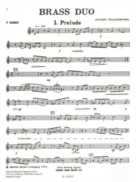 Brass Duo - Horn And Tuba (Cor Et Tuba)