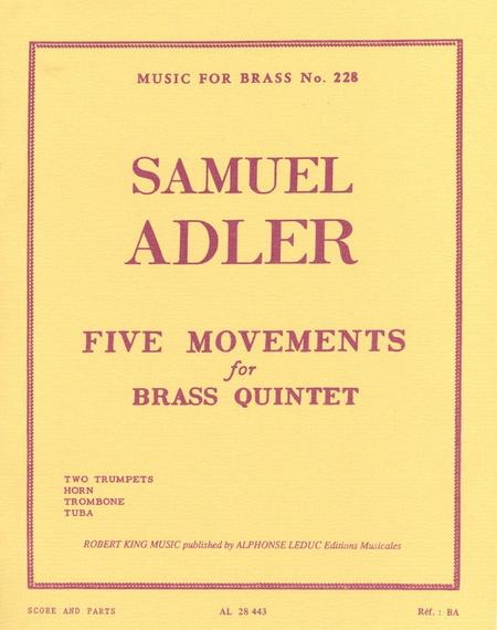 5 Movements - Brass Quintet