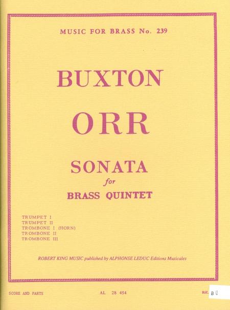 Sonata - Brass Quintet