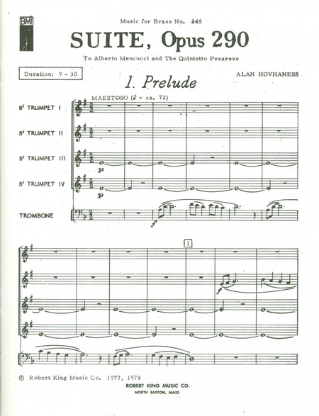 Suite Op290 - Brass Quintet