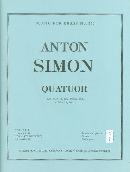 Quatuor Op21/No.1 - Brass Quartet