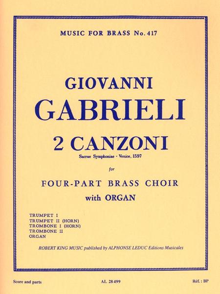 2 Canzoni Septimi Toni - Brass Quartet