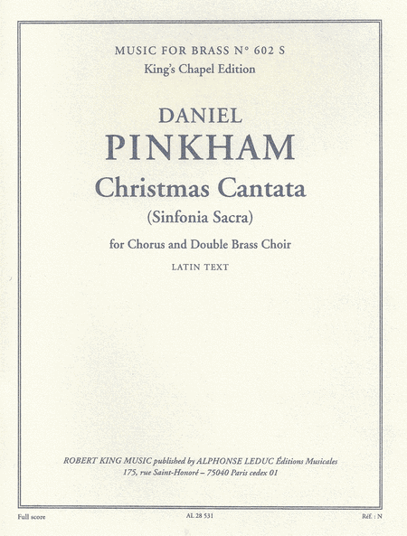 Christmas Cantata - Brass Ensemble/Vces