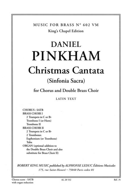 Christmas Cantata - SATB Sheet Music By Daniel Pinkham - Sheet ...