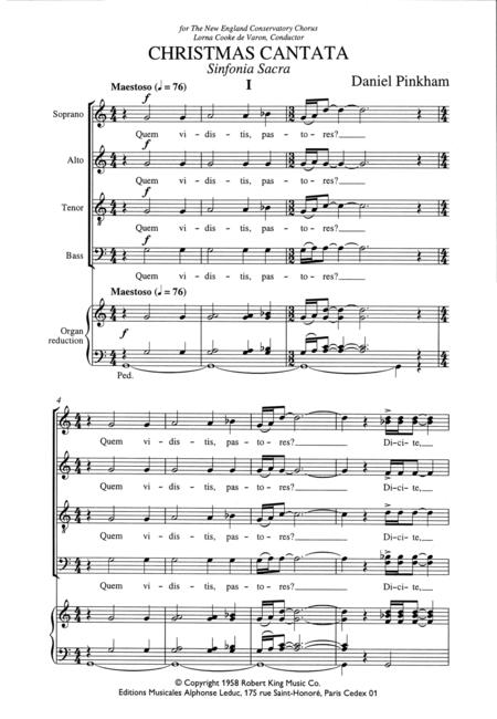 Christmas Cantata - SATB