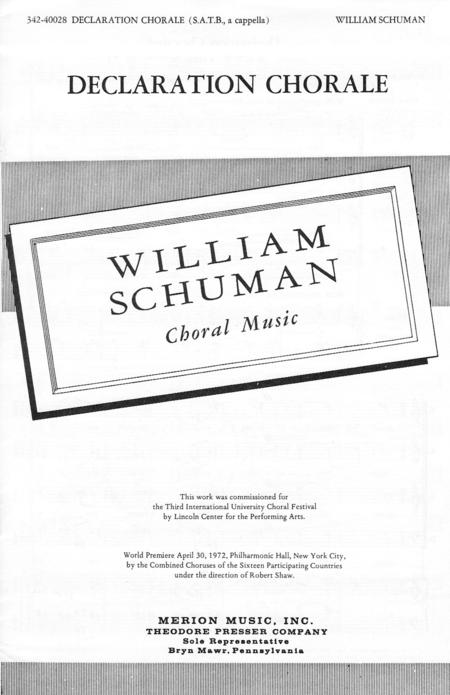 Declaration Chorale