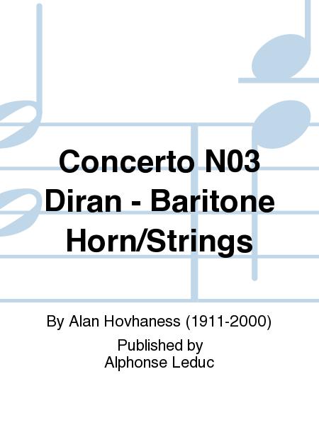 Concerto No.3 Diran - Baritone Horn/Strings