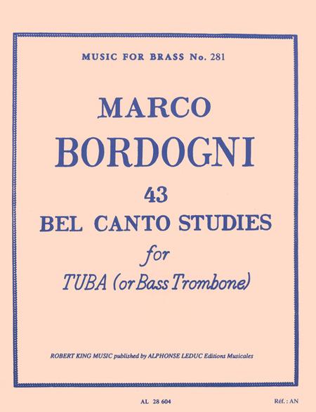 43 Bel Canto Studies - Bass Trombone