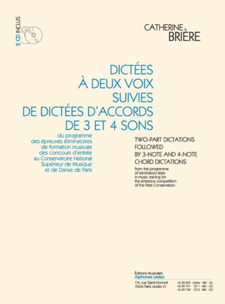 Dictees a 2 Voix Suivies de Dictees D'Accords de 3 et 4 Sons (Avec 2 CD)