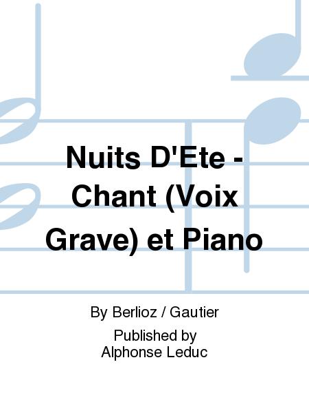 Nuits D'Ete - Chant (Voix Grave) et Piano