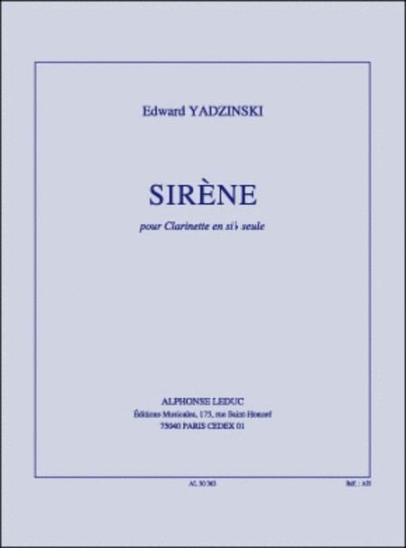 Sirene - Clarinette Sib Seule