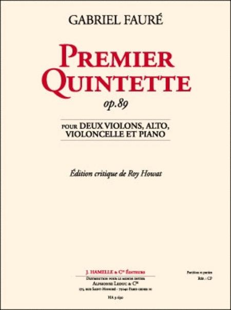 Quintette No.1 Op89 - 2 Violons/Alto/Vcelle/Pno (Ed.Critique)