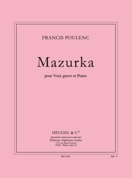 Mazurka - Voix Grave Et Piano
