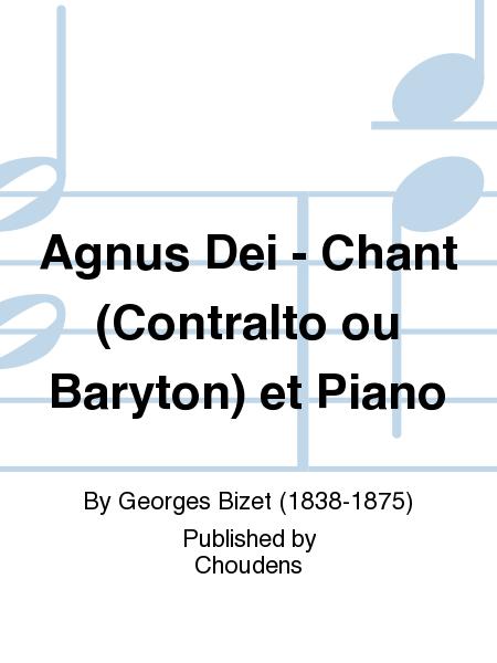 Agnus Dei - Chant (Contralto ou Baryton) et Piano