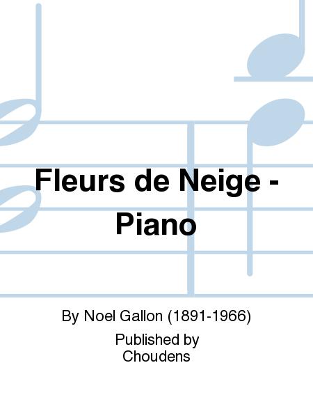 Fleurs de Neige - Piano