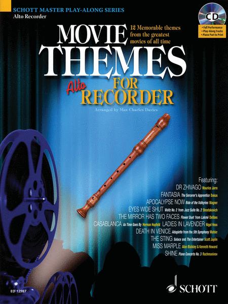 Movie Themes for Alto Recorder