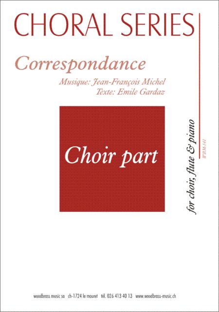 Correspondance (8 titles) (choir part)
