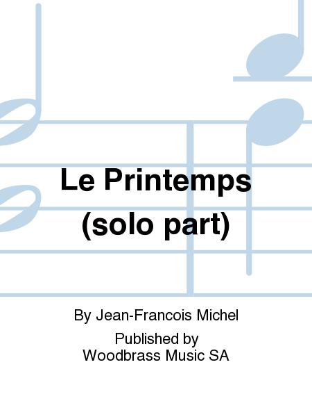 Le Printemps (solo part)