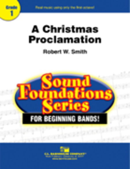 A Christmas Proclamation Sheet Music By Robert W. Smith - Sheet ...