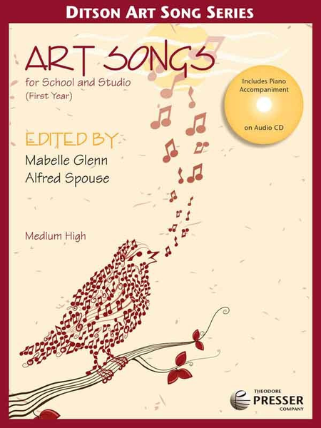 Art Songs for School and Studio, First Year Medium High Voice - CD only