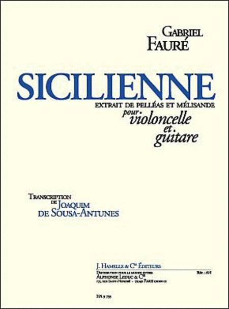 Sicilienne Op78 - Violoncelle et Guitare
