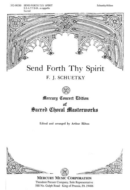 Emitte Spiritum Tuum (Send Forth Thy Spirit)