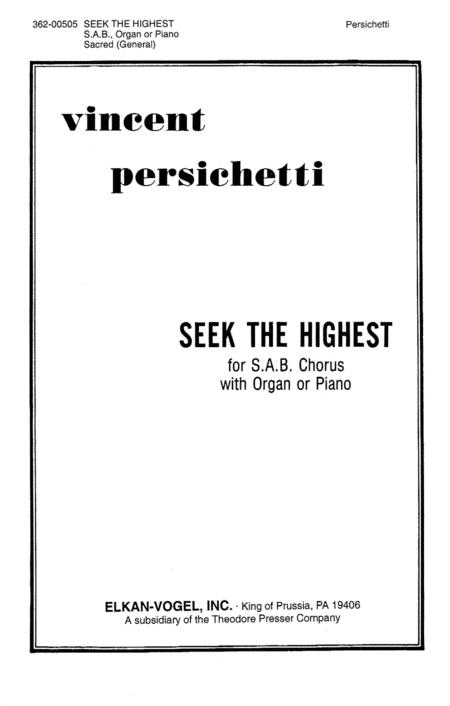 Seek the Highest