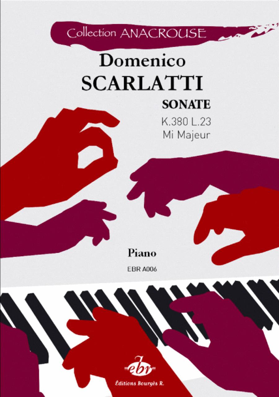 Sonate en mi majeur K. 380 L. 23