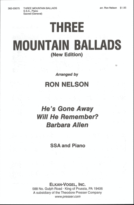 Three Mountain Ballads