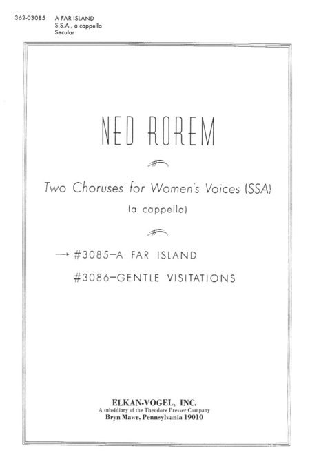 Two Choruses For Women's Voices (Ssa)