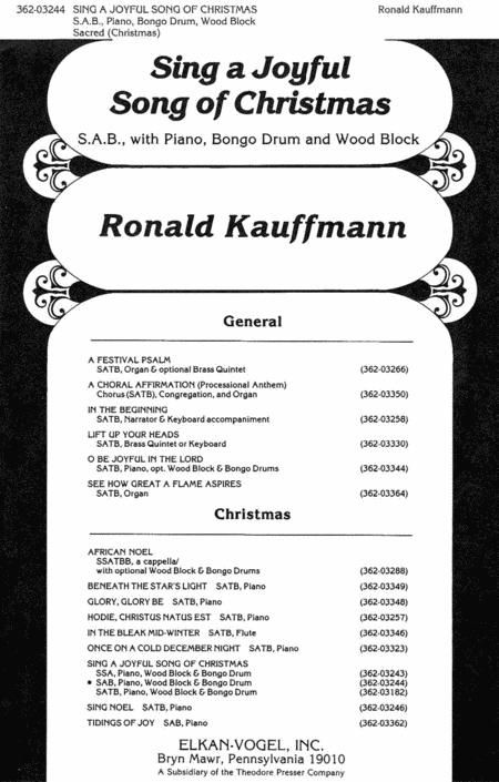 Sing A Joyful Song of Christmas