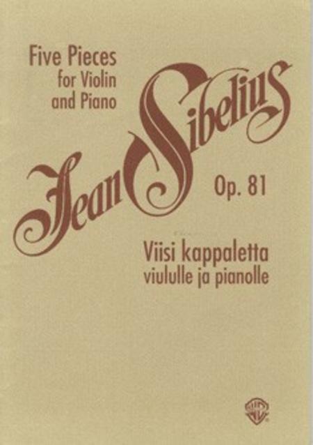 Five Pieces For Violin & Piano