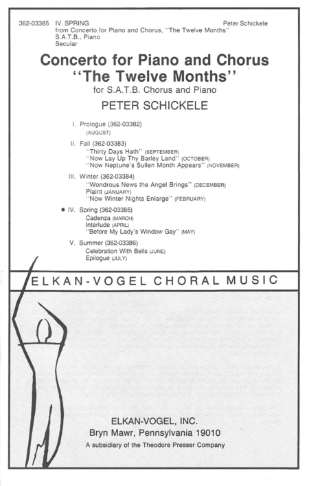 IV Spring, From Concerto For Piano And Chorus