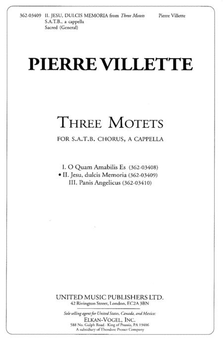 Three Motets 2. Jesu, Dulcis Memoria