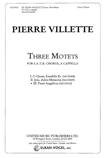 III. Panis Angelicus (from Three Motets)