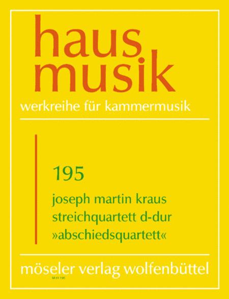 String Quartet D major op. 1,4