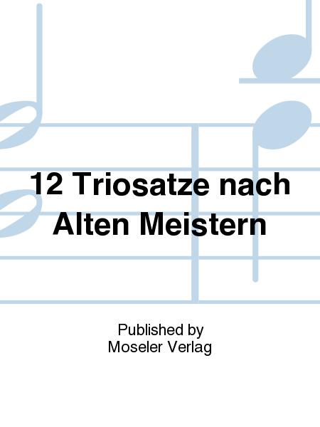 12 Triosatze nach Alten Meistern