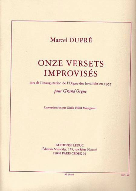 11 Versets Improvises - Orgue
