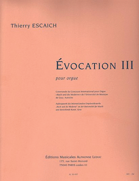 Evocation III - Orgue