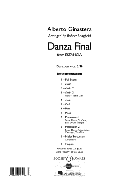 Danza Final (from Estancia)