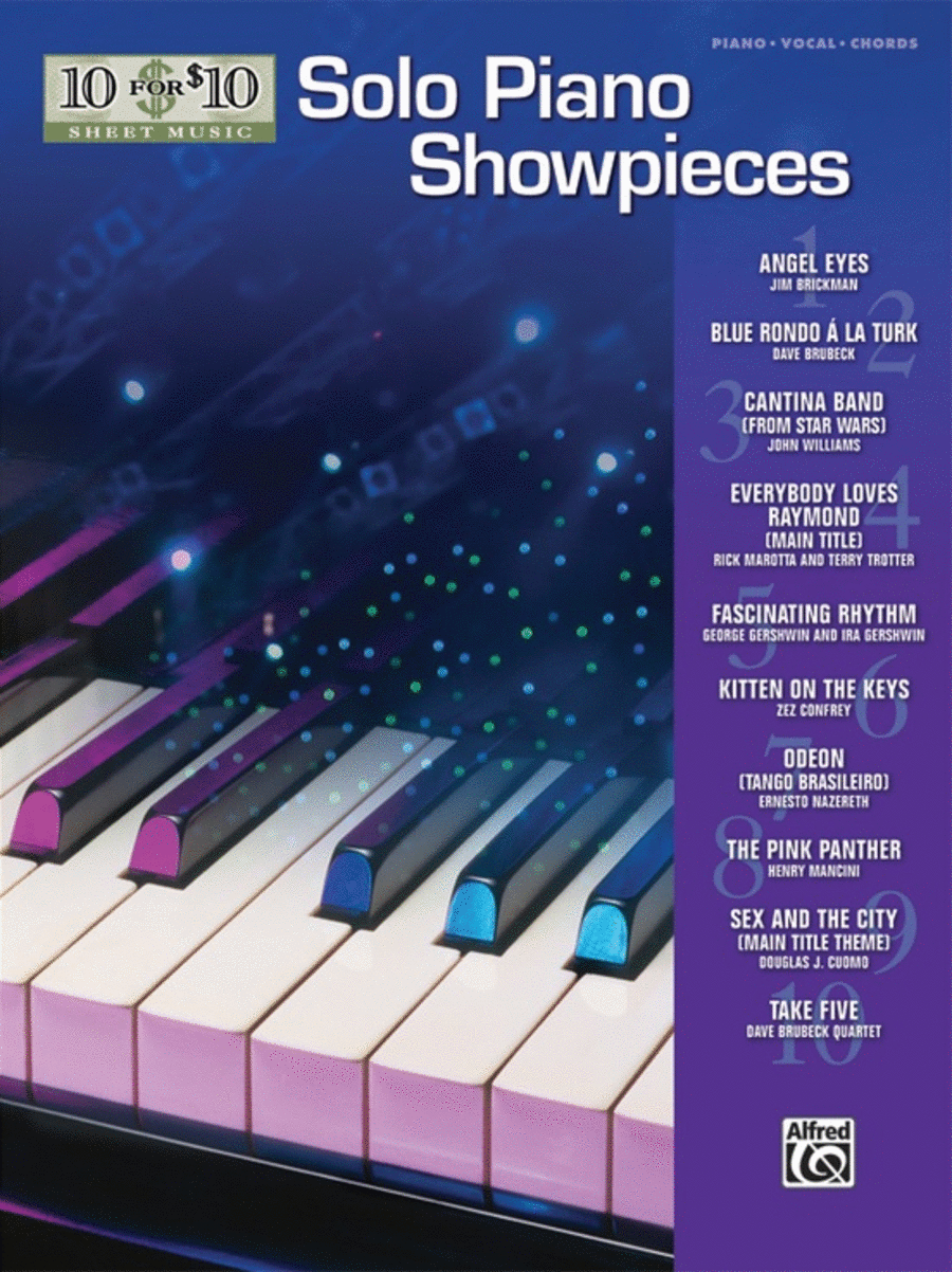 10 for 10 Sheet Music Solo Piano Showpieces