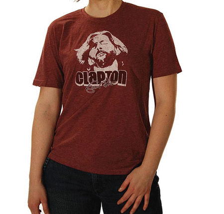 Eric Clapton: Melodic Red T-Shirt (Large)