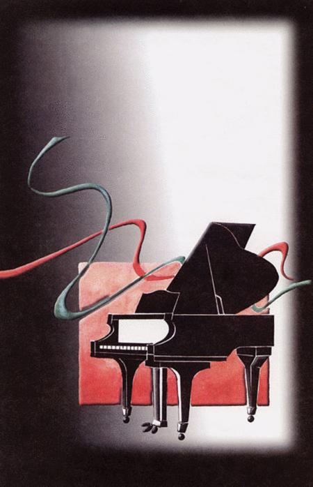 Schaum Recital Programs (Blank) #18: Piano with Ribbons