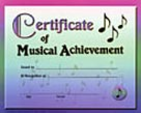 Certificate of Music Achievement (Pack of 12)
