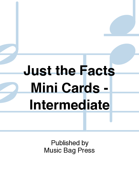Just the Facts Mini Cards - Intermediate