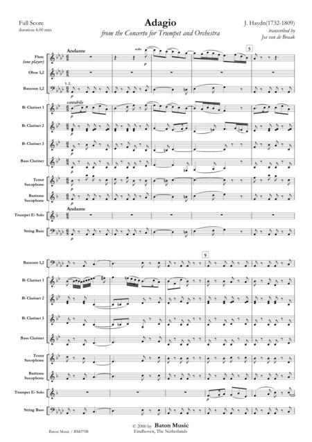 Adagio from the Concerto for Trumpet in E-flat major