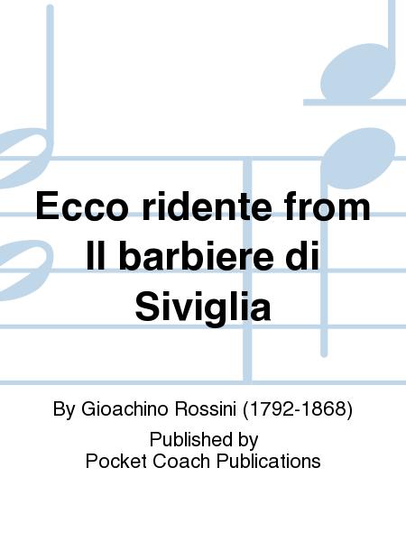 Ecco ridente from Il barbiere di Siviglia