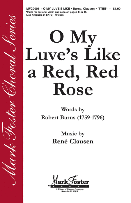 O My Luve's Like a Red, Red Rose