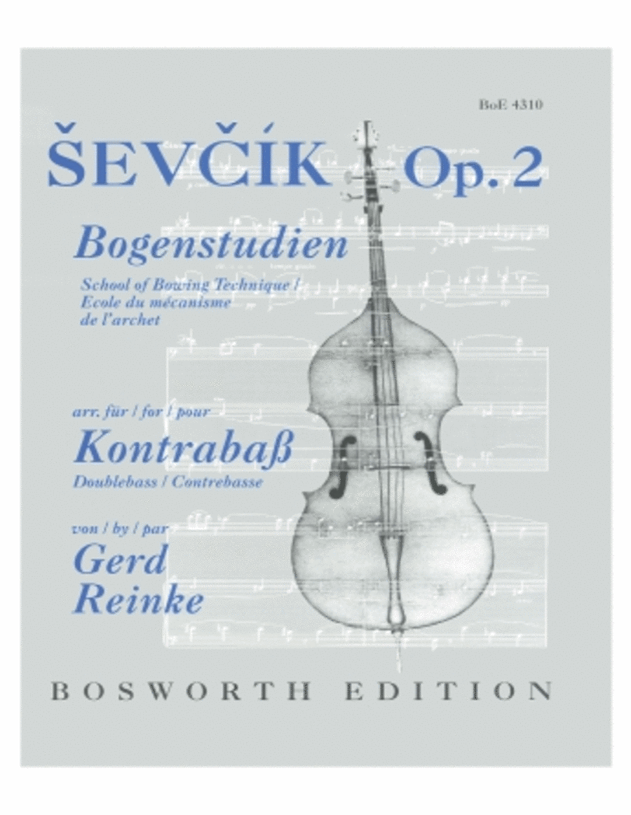 Sevcik School of Bowing Technique, Op. 2 - Double Bass