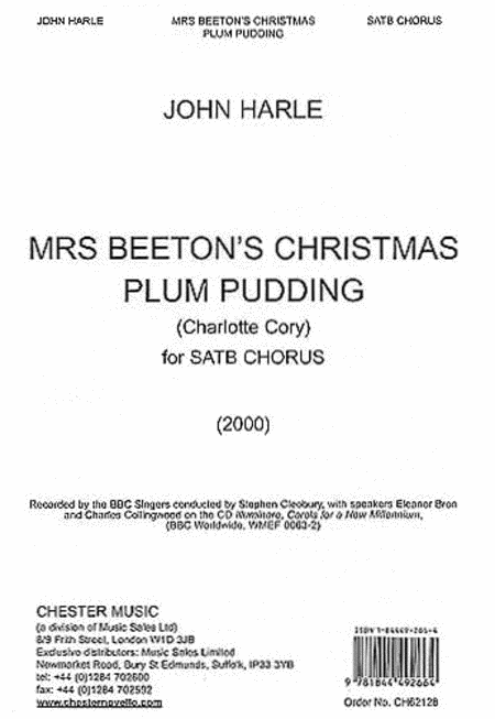John Harle: Mrs Beeton's Christmas Plum Pudding